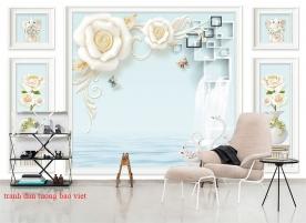 Giấy dán tường phòng khách 3d-194