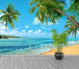 Tranh dán tường cảnh biển me201