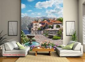 Tranh dán tường cảnh thành phố fm512