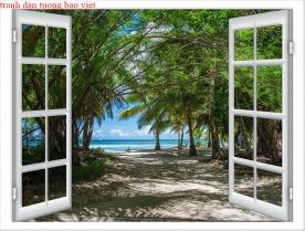 Tranh dán tường cửa sổ fi150