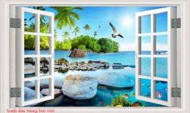 Tranh dán tường cửa sổ ms095