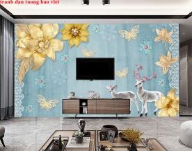Giấy dán tường phòng khách 3d fl203