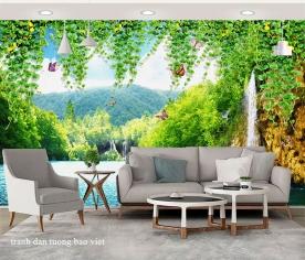 Giấy dán tường phòng khách w205