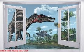 Tranh dán tường cửa sổ 3d fi149