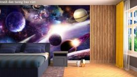 Tranh dán tường 3d galaxy me165