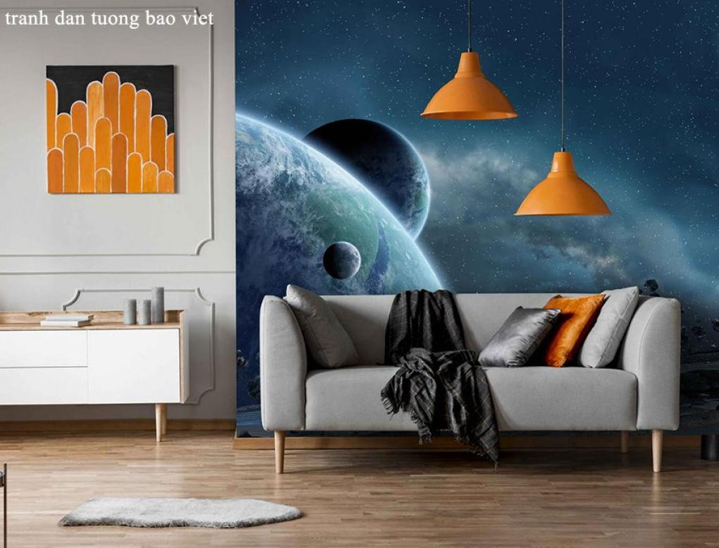 Tranh dán tường 3d galaxy me166