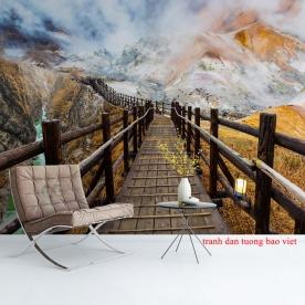 Tranh dán tường sông núi me171