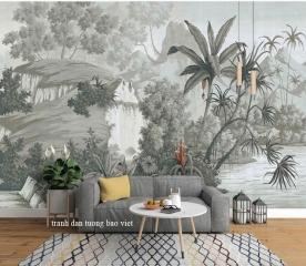 Leaf wallpaper tr333