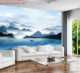 Giấy dán tường phòng khách ft130