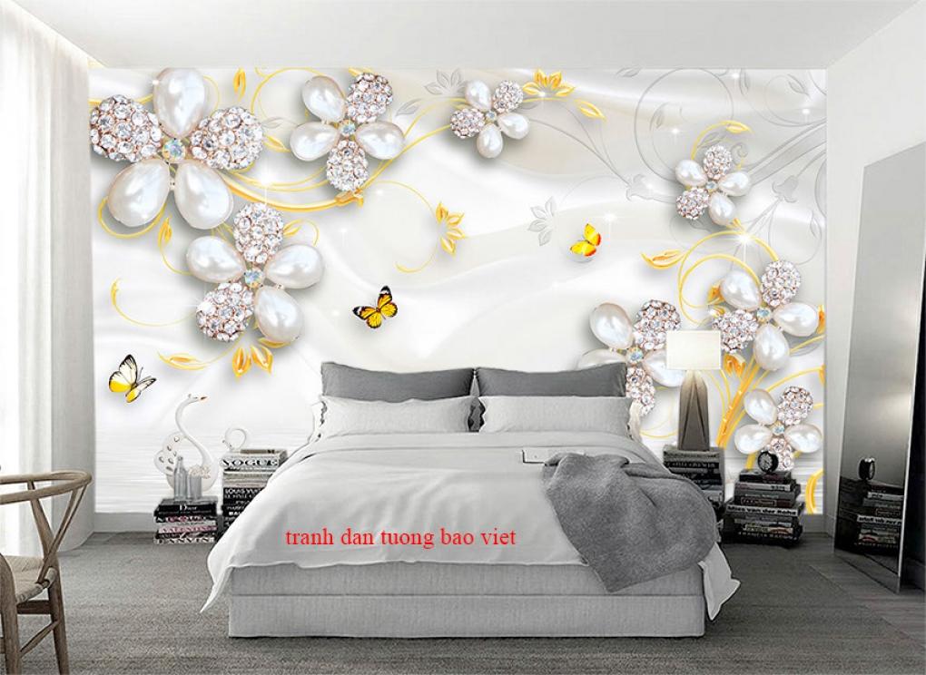Giấy dán tường phòng ngủ 3d fl205