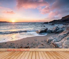 Tranh dán tường cảnh biển me177