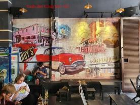 Tranh dán tường cho quán cafe fm502