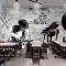 Tranh dán tường cho quán cafe fm503