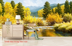 Tranh dán tường phong cảnh thiên nhiên tr342