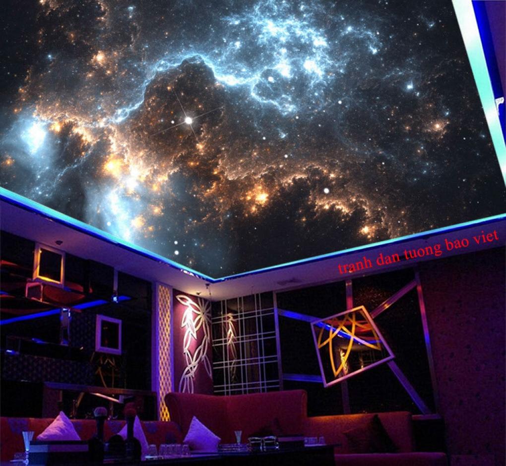 Tranh dán trần nhà galaxy c209