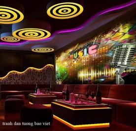 Tranh dán tường cho phòng karaoke fm520