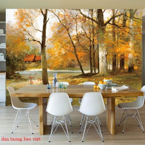 Tranh dán tường phong cảnh thiên nhiên tr338
