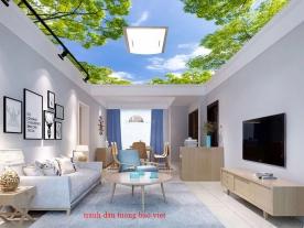 Giấy dán tường phòng khách dán trần nhà c211