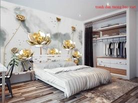 Giấy dán tường phòng ngủ 3d fl219