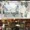 Tranh dán tường cho quán cafe fm525
