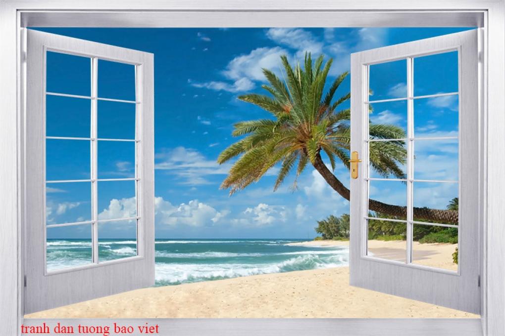 Tranh dán tường cửa sổ s280