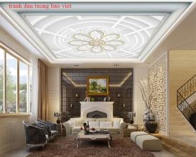 Giấy dán tường dán trần phòng khách c212