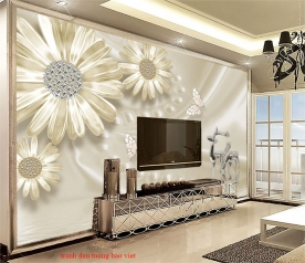 Giấy dán tường phòng khách fl223