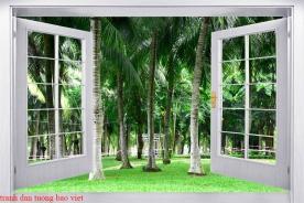 Tranh dán tường cửa sổ 3d tr339