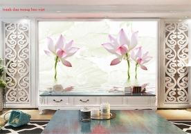 Tranh dán tường hoa sen h338