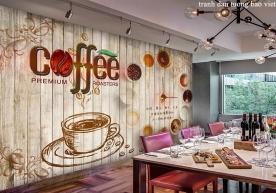 Tranh dán tường cho quán cafe me108