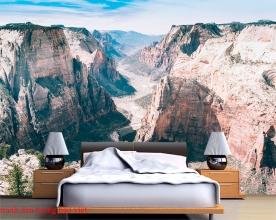 Tranh dán tường phong cảnh sông núi m093