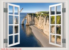 Tranh dán tường 3d cửa sổ s291