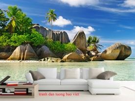 Tranh dán tường phong cảnh biển s290