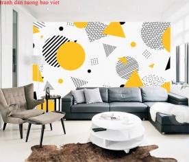 Giấy dán tường phòng khách 3d-177