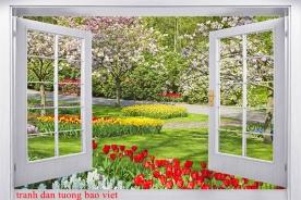 Tranh dán tường cửa sổ fi144