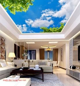 Giấy dán tường dán trần phòng khách c203