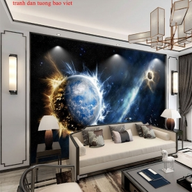 Tranh dán tường 3d galaxy c201