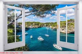 Tranh dán tường cửa sổ 3d me142