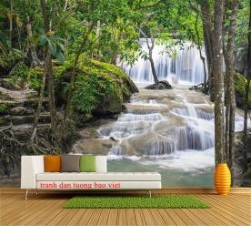 Tranh dán tường thác nước me138