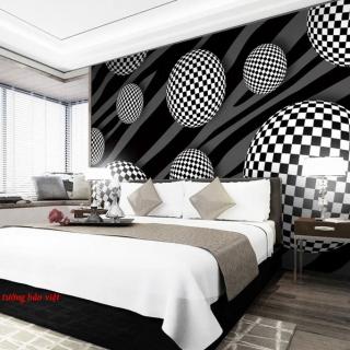 Giấy dán tường 3d trang trí phòng ngủ phòng khách