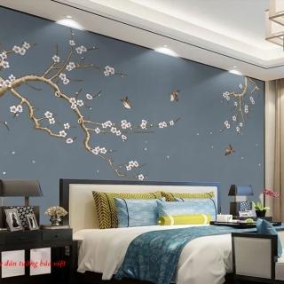 Tranh giấy dán tường điểm nhấn cho phòng ngủ