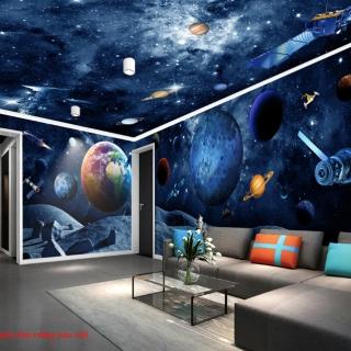 Giấy dán tường galaxy toàn cảnh panorama