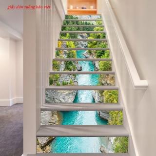 Tranh phong cảnh thiên nhiên đẹp dán cho bậc cầu thang