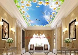Giấy dán trần nhà 3D đẹp K16718316