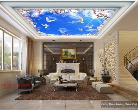Giấy dán trần nhà C101