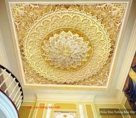 Giấy dán trần nhà hoa văn đẹp e001