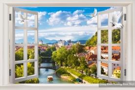 Giấy dán tường cửa sổ 3D Fm022