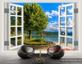 Giấy dán tường cửa sổ đẹp Tr152