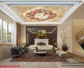 Giấy dán tường dán trần nhà 3d c147