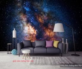 Giấy dán tường galaxy cho phòng ngủ c123